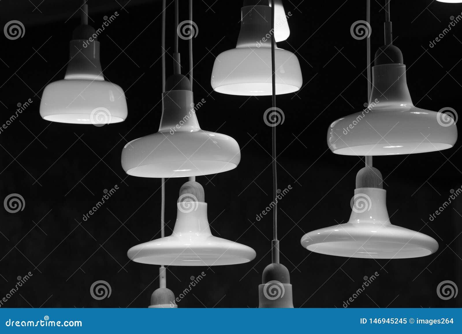 Various illuminated lamps