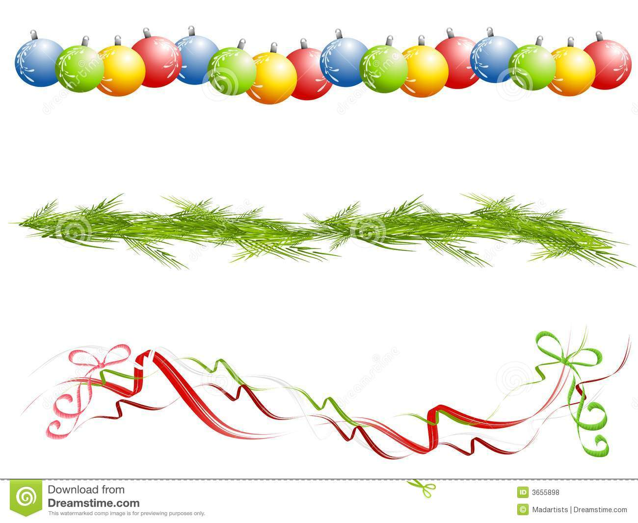 Various Isolated Christmas Borders