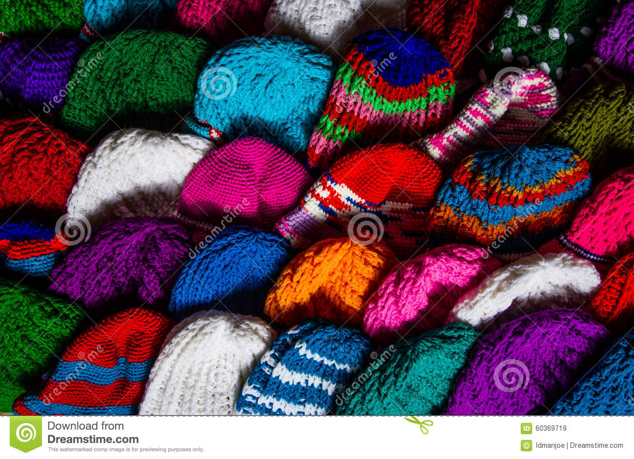 various knitting wool hat stock photo image 60369719