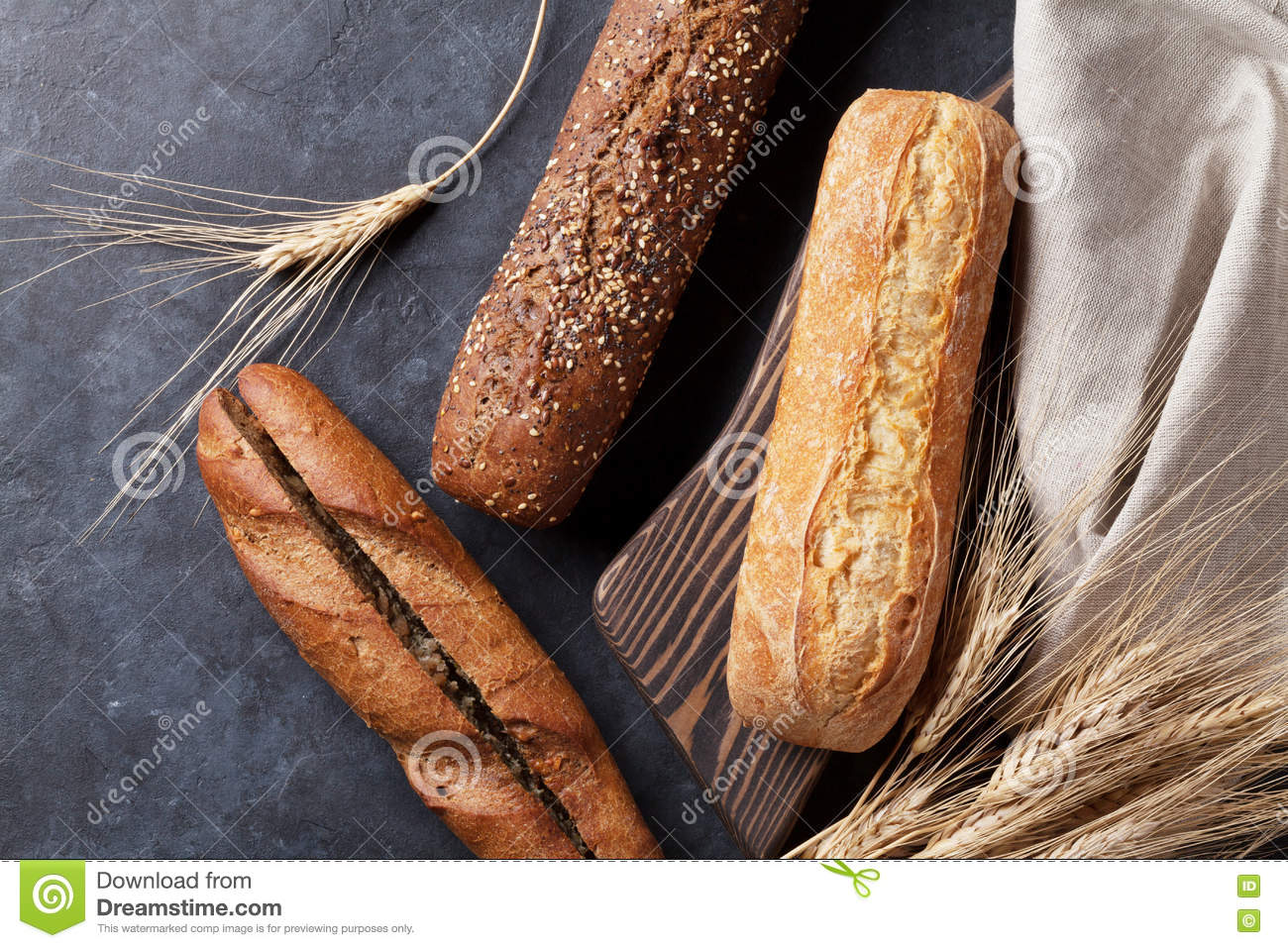 Various loaf of bread