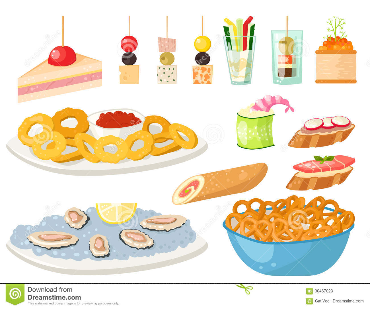 Catering cartoons illustrations vector stock images for Canape vector download