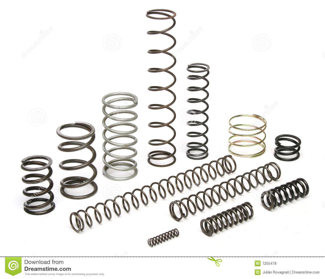 Various metal springs