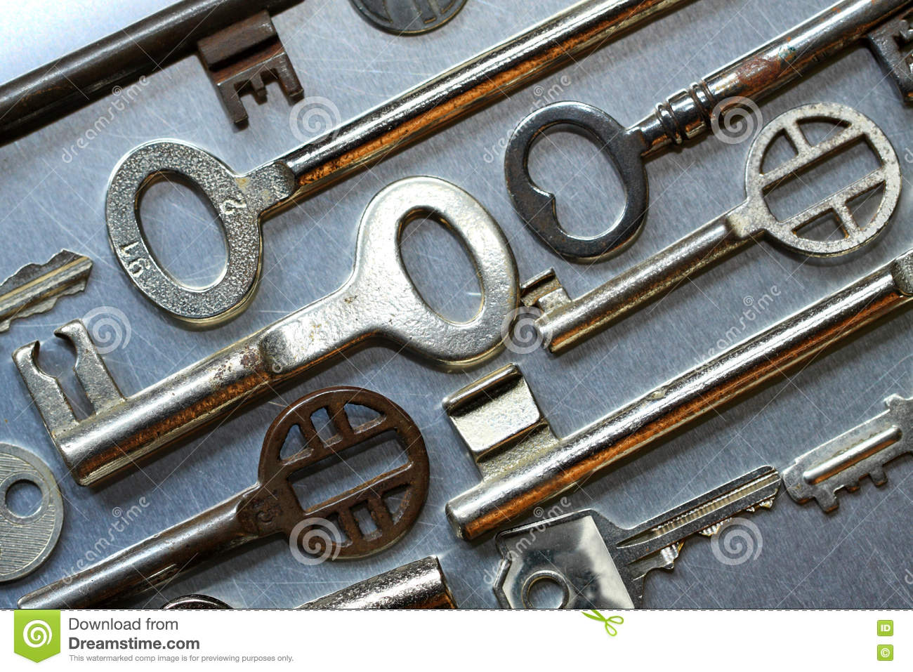 Various old house keys stock image image of solution for Classic house keys