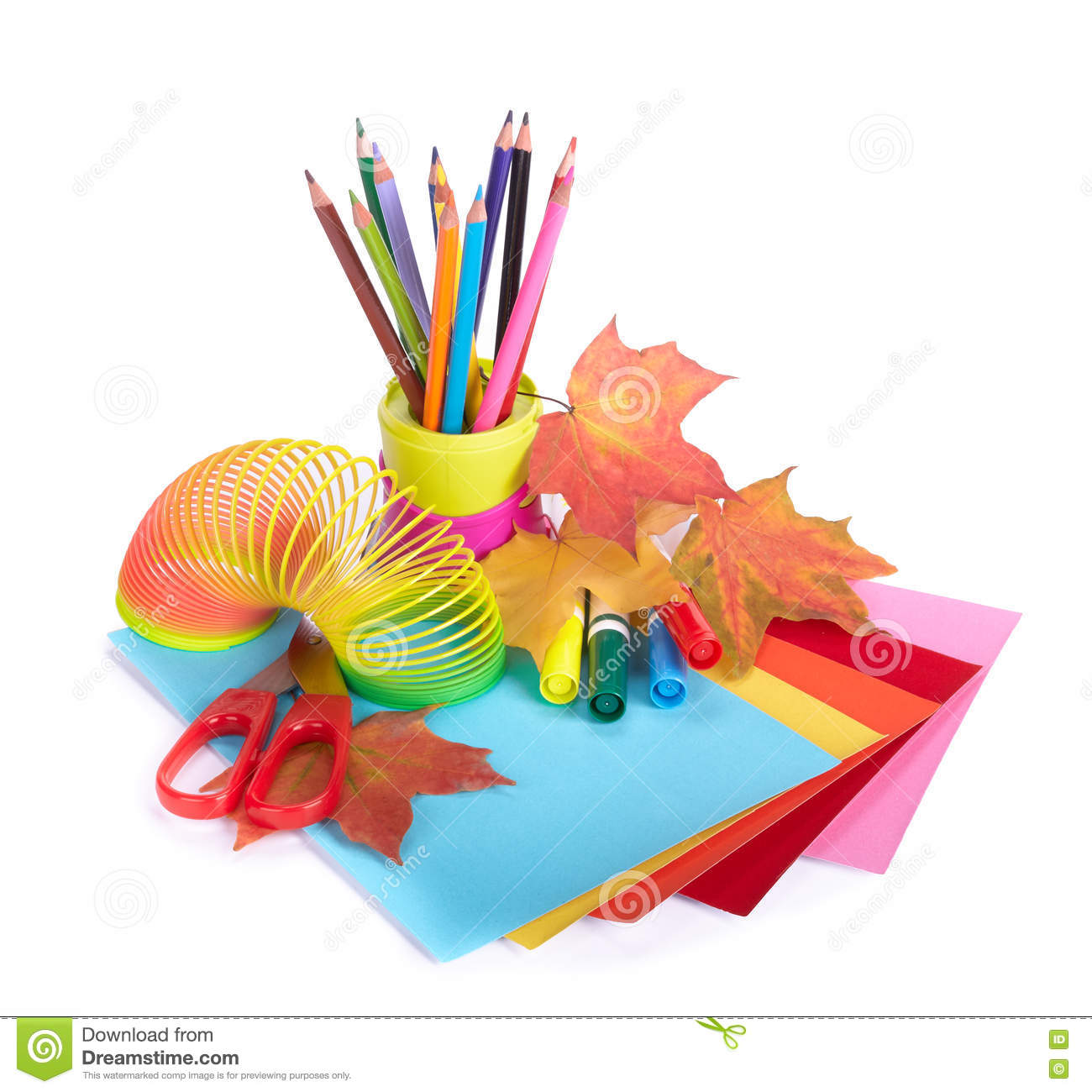 Various school accessories to children s creativity