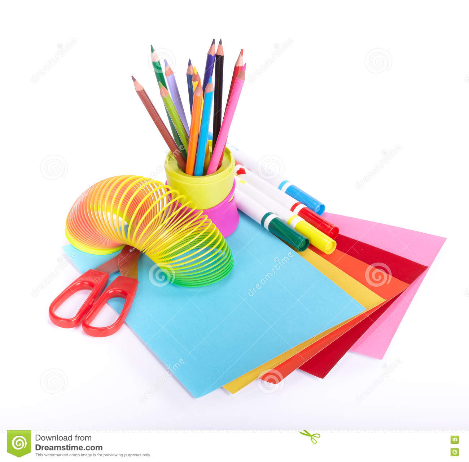 Various school accessories to children s creativity