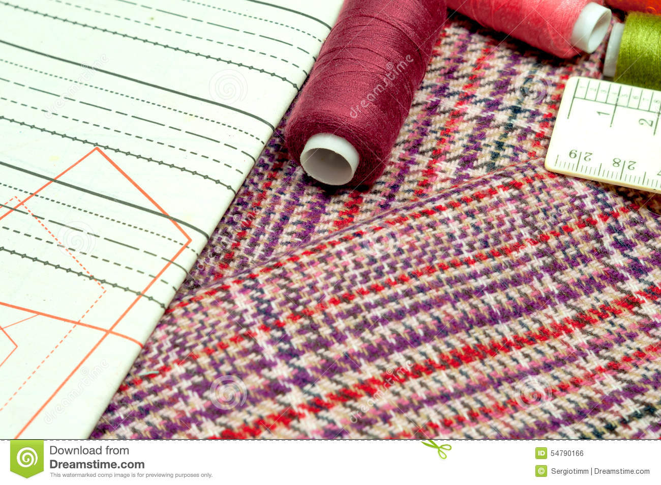 Various sewing supplies stock photo image 54790166 for Fabric supply