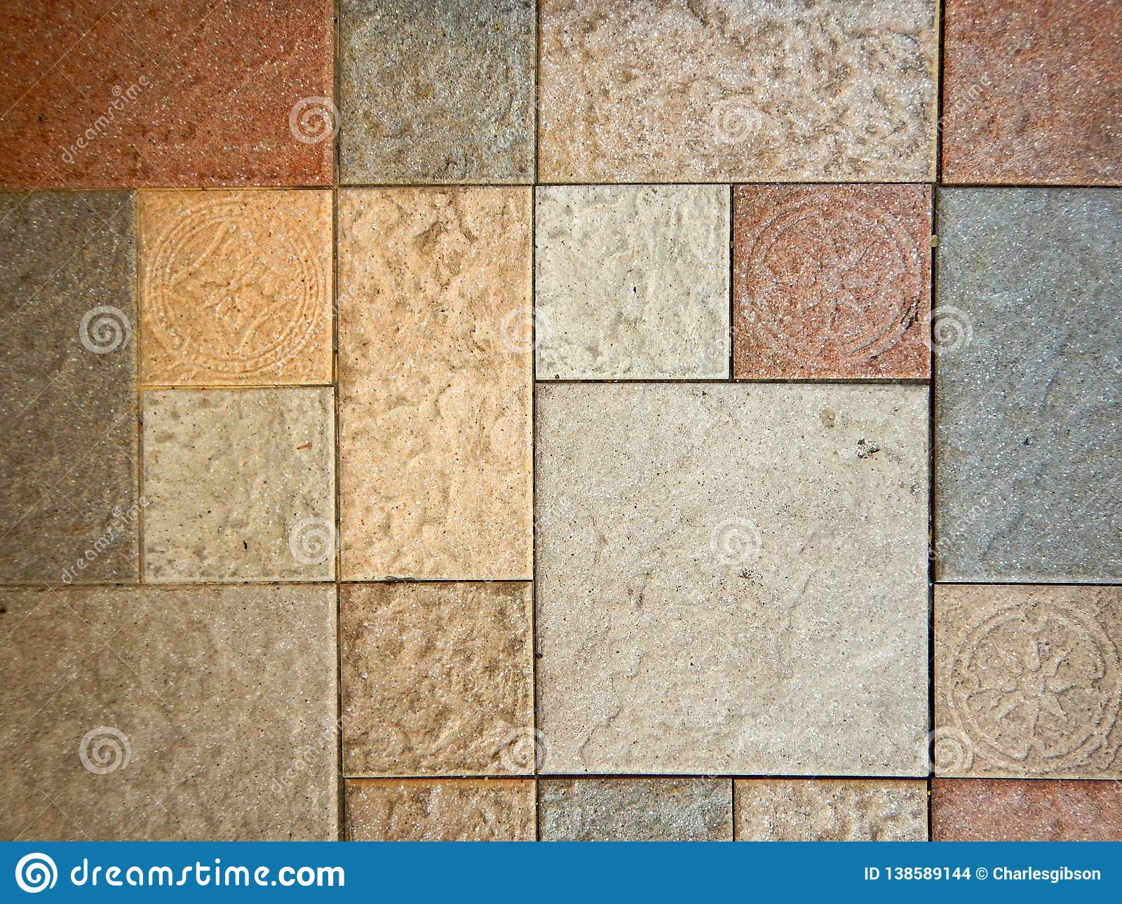 Coloured floor tiles stock photo  Image of colours, shop
