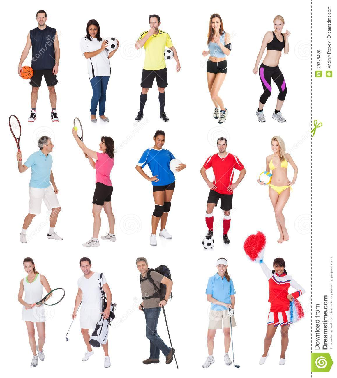 various sports people stock photo   image 29378420