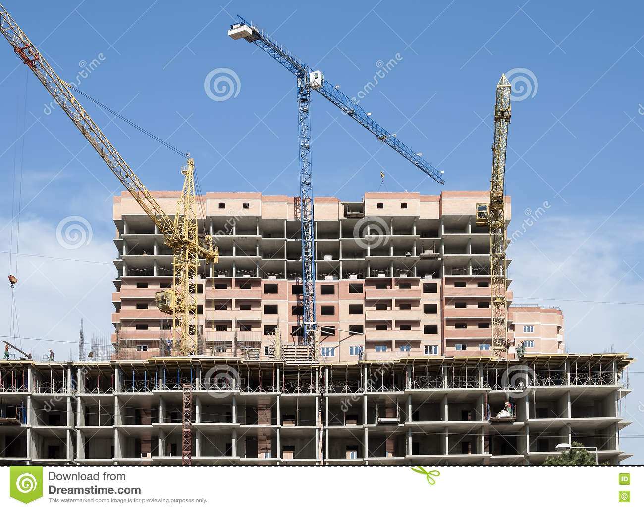 Stages of construction excavator digs foundation pit for Phases of building a house