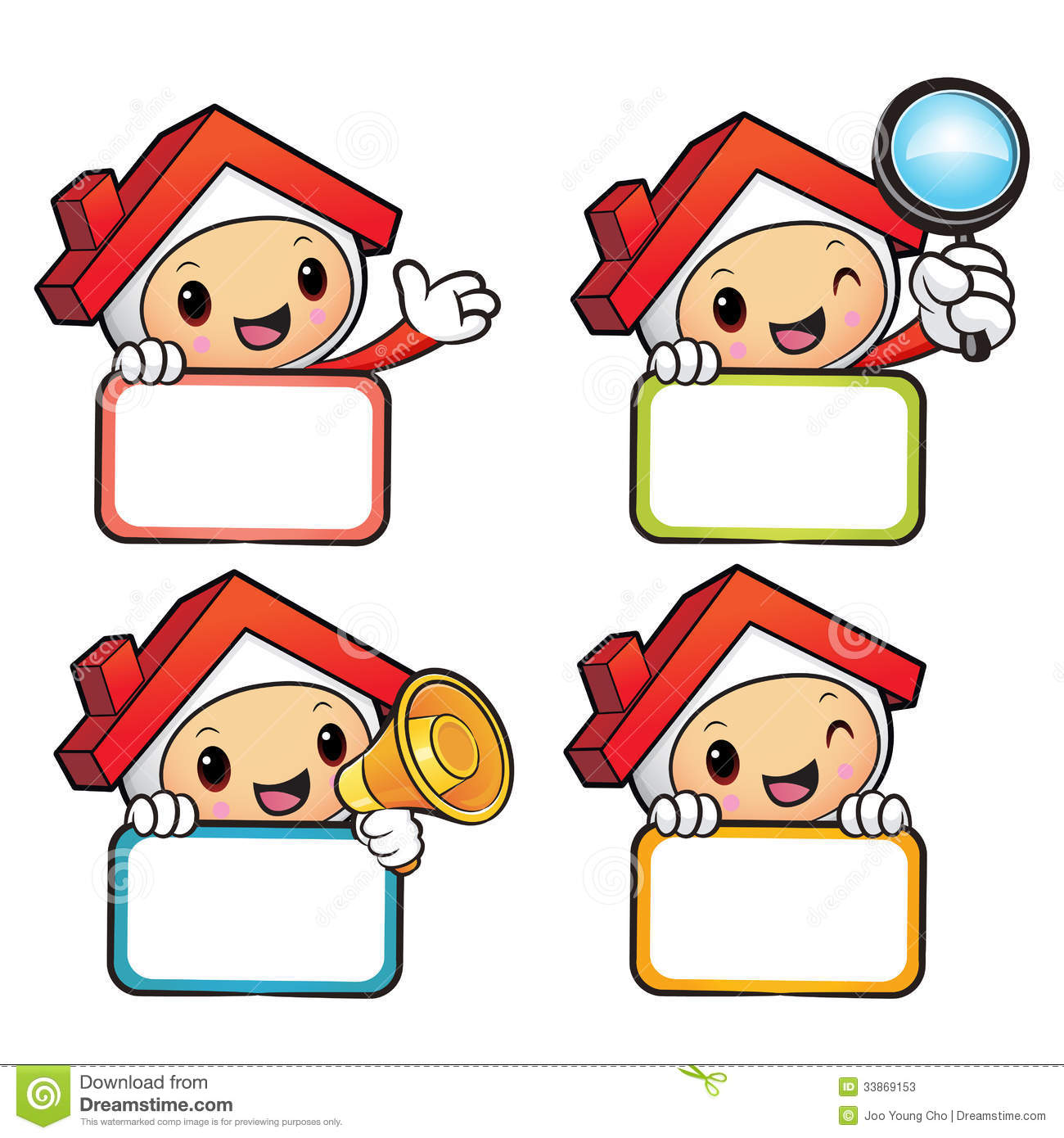 Various Styles Of House Mascot Sets House And Real Estate