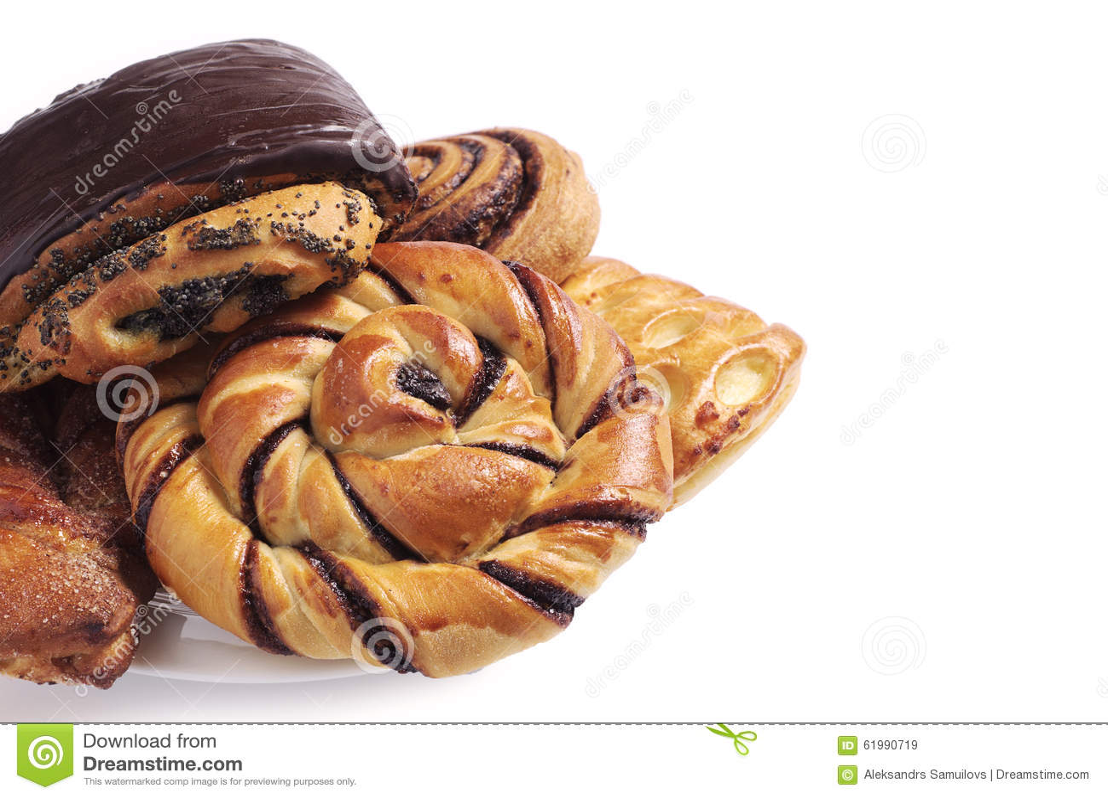 Various sweet buns