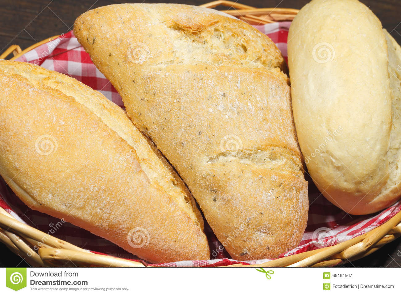 Various Types Of Bread Rolls Cakes Bun Stock Image