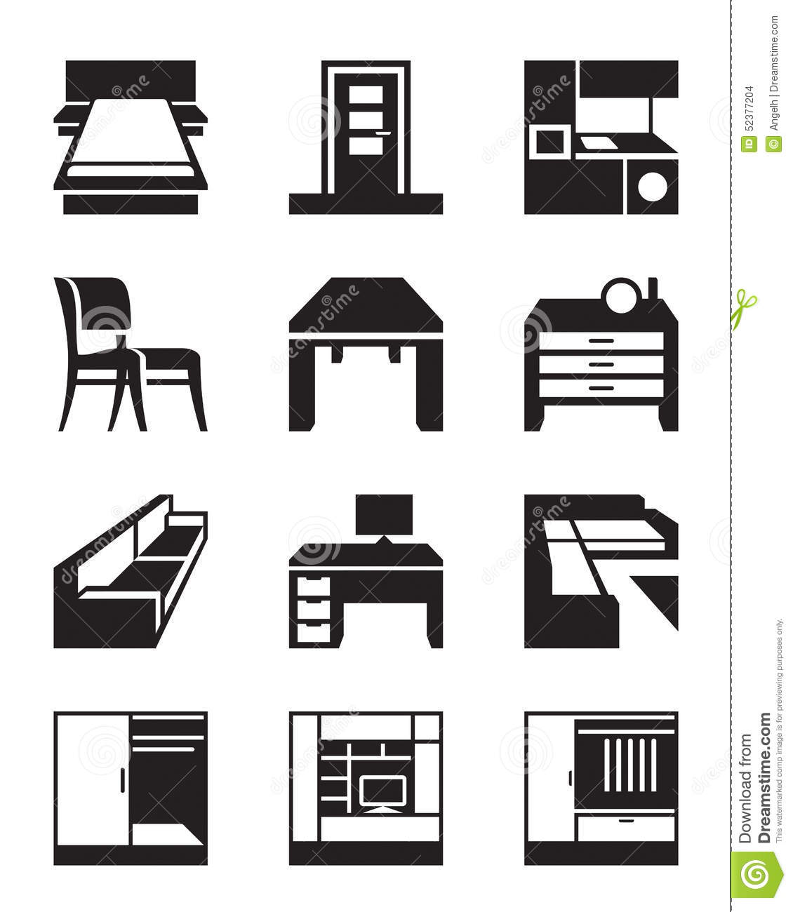 Various Types Of Furniture Stock Vector Illustration Of Business