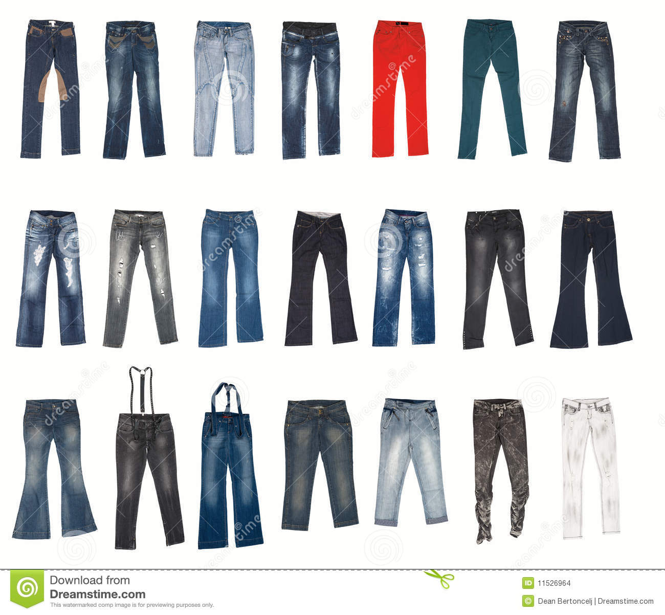 Various Types Of Jeans Pants Stock Photo Image Of Ripped
