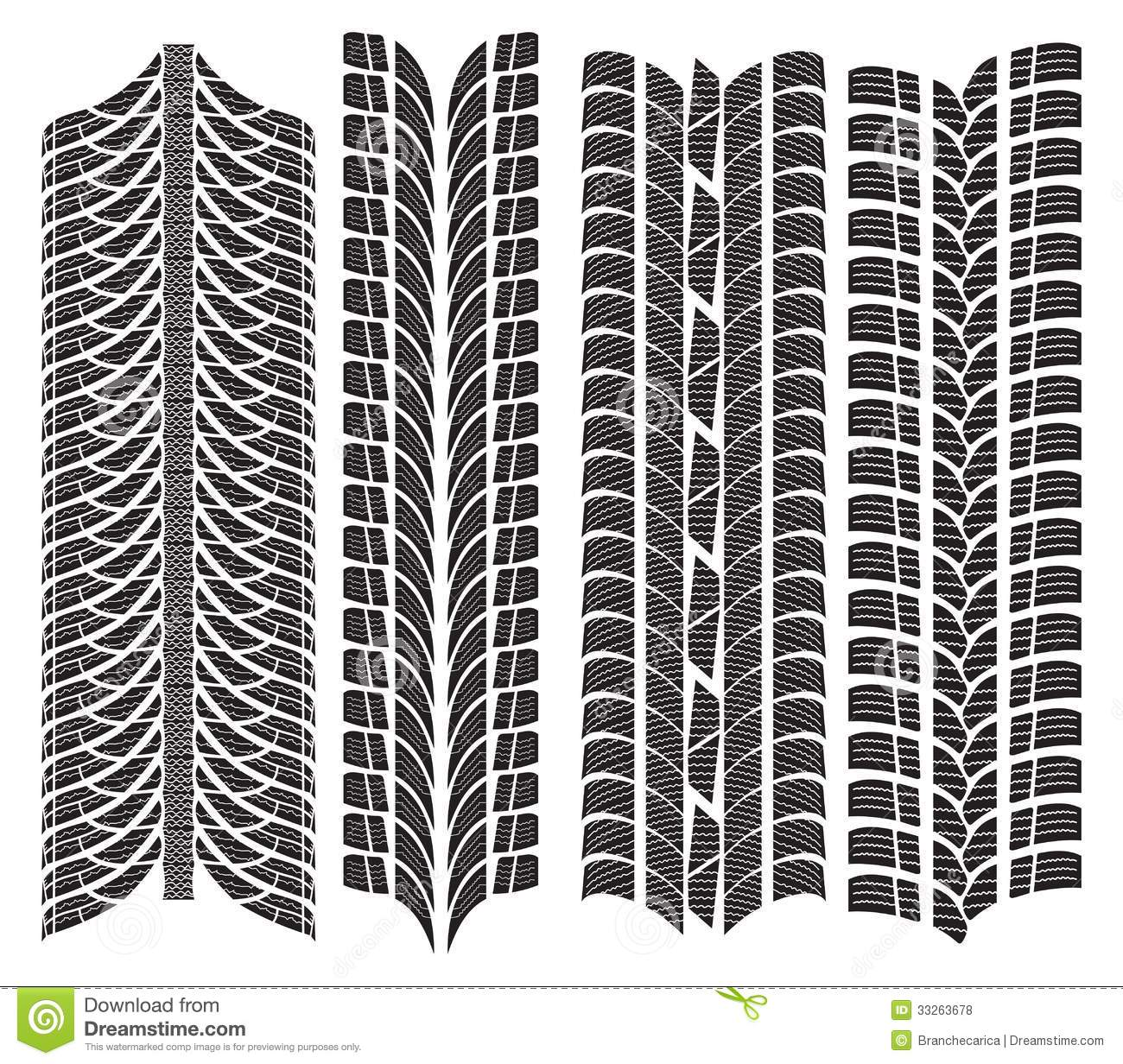 Various Tyre Treads Royalty Free Stock Photos Image