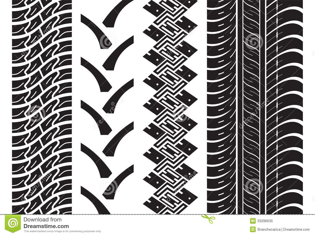 Various Tyre Treads Royalty Free Stock Photo - Image: 33296635
