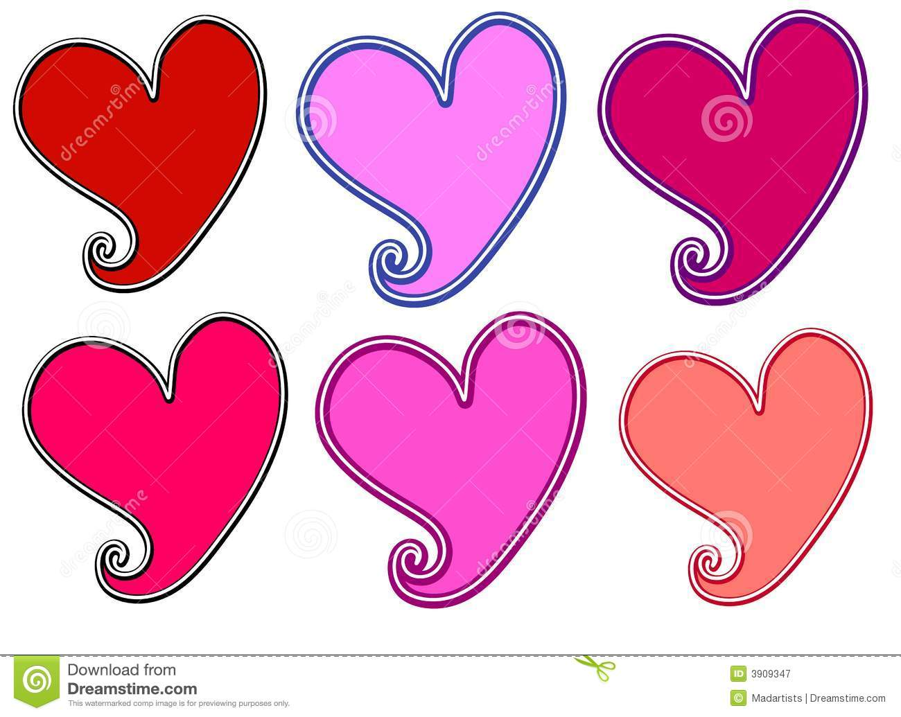 various valentine u0027s day hearts clip art royalty free stock