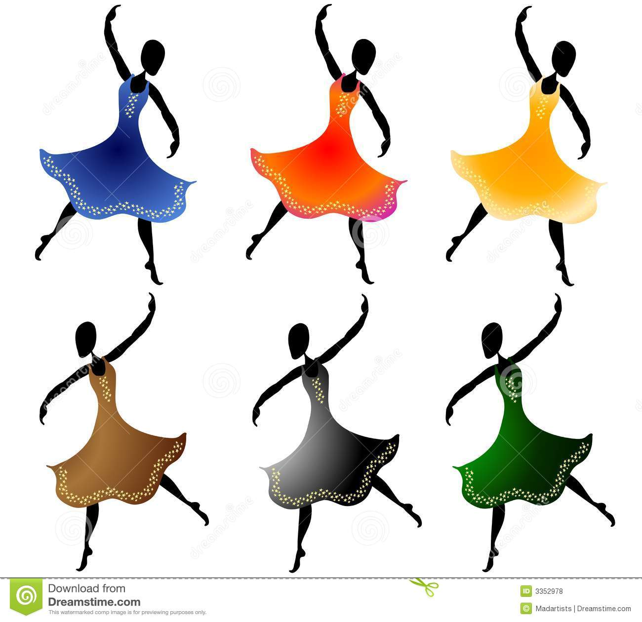 various women dancing clip art stock illustration illustration of rh dreamstime com clipart of women in red clipart of women shoes
