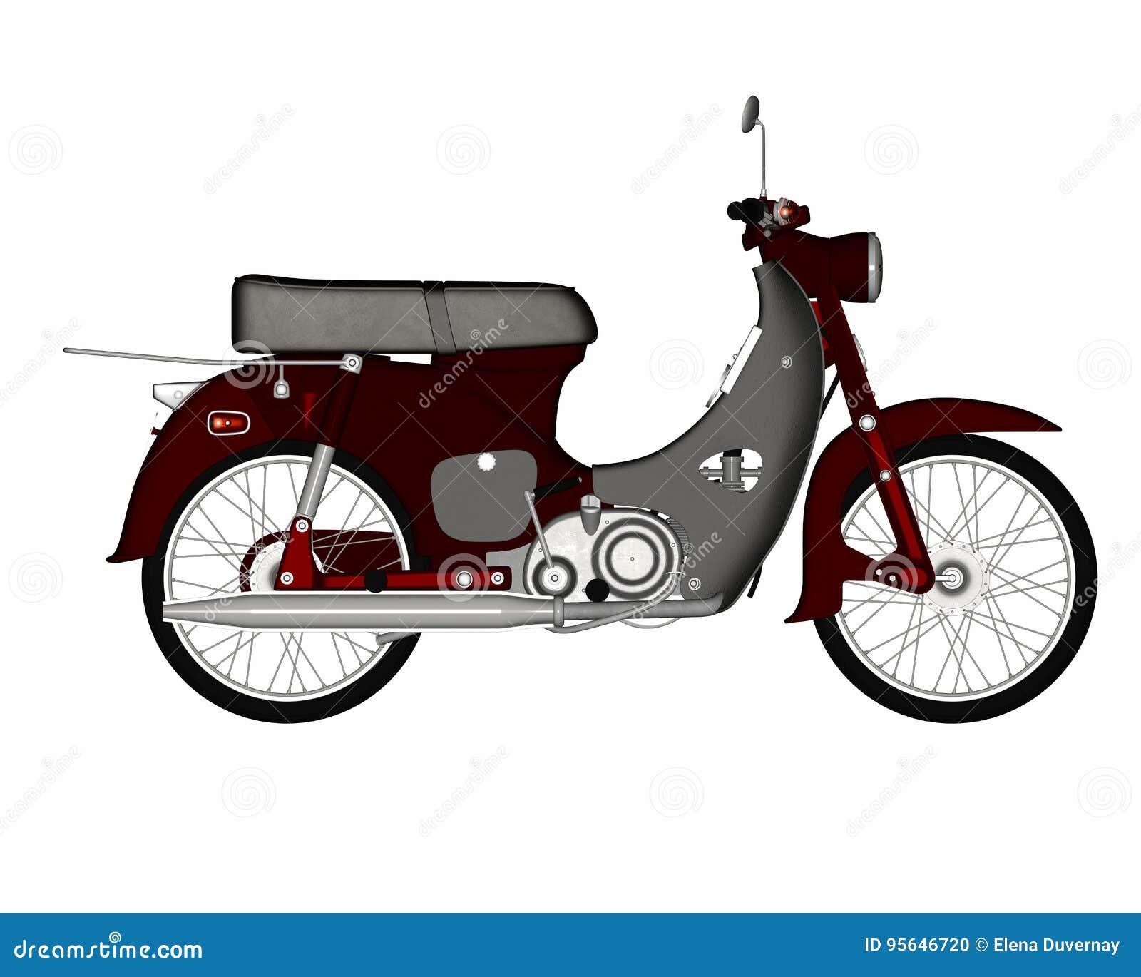 Varit nedstämd sparkcykel - 3D framför