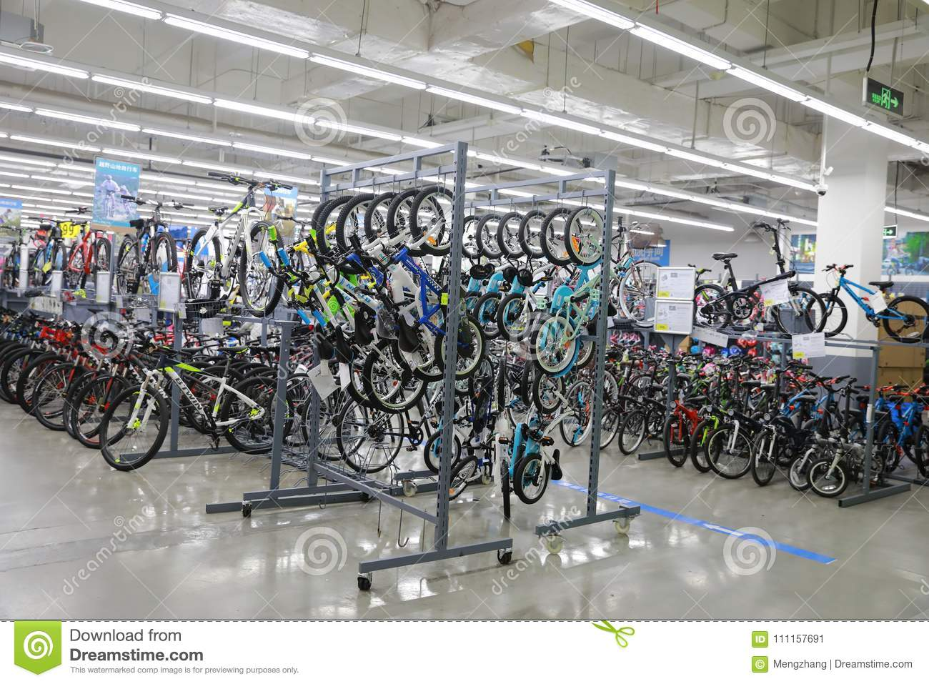 Varity Of Bicycle Sell In The Shop , Bike Area In Decathlon Store