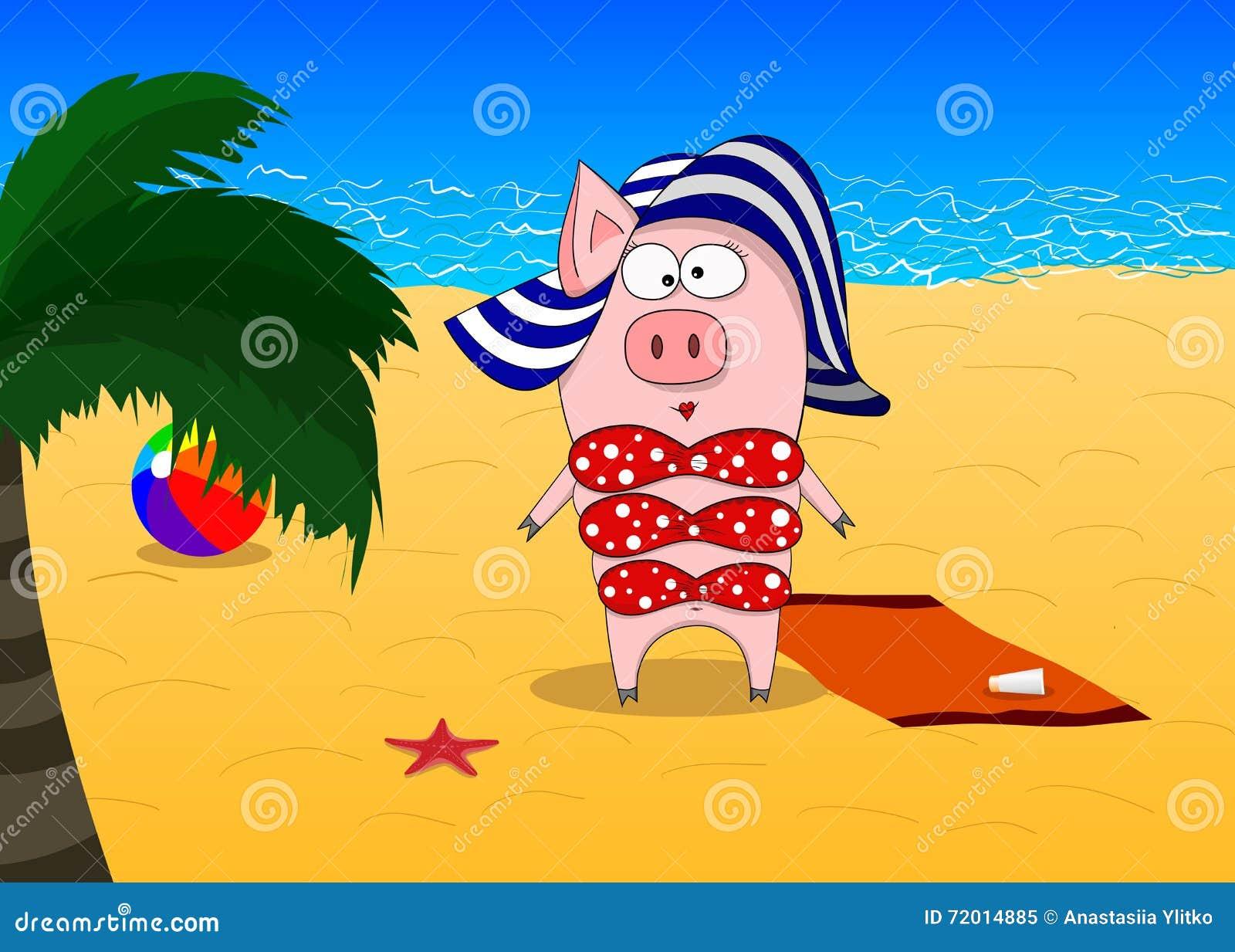 Смешной пляжный рисунок, сочи парка