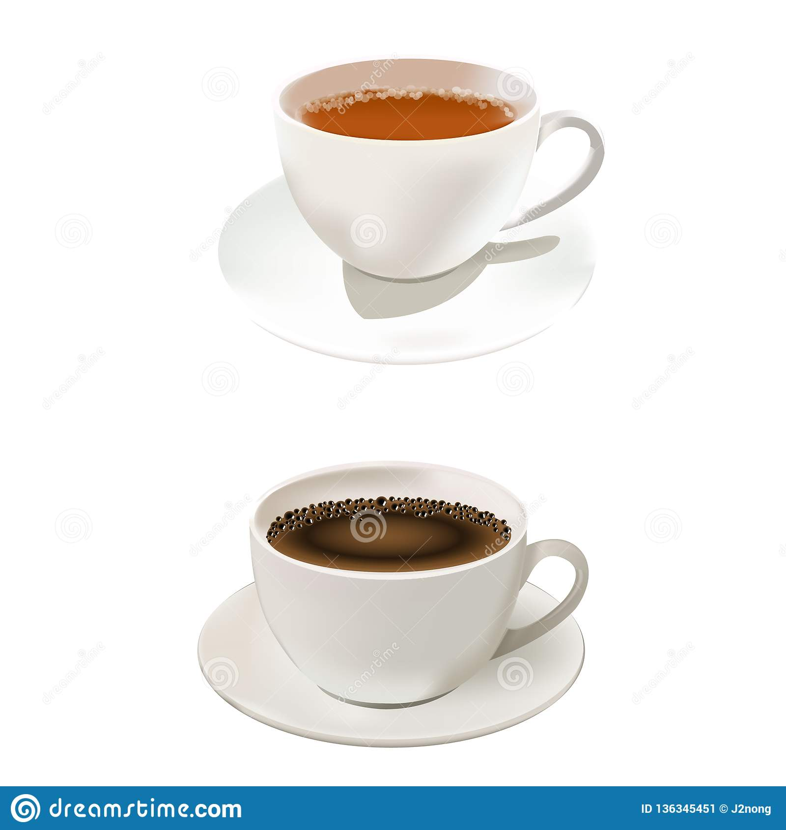 Varm drink för kaffe och för te