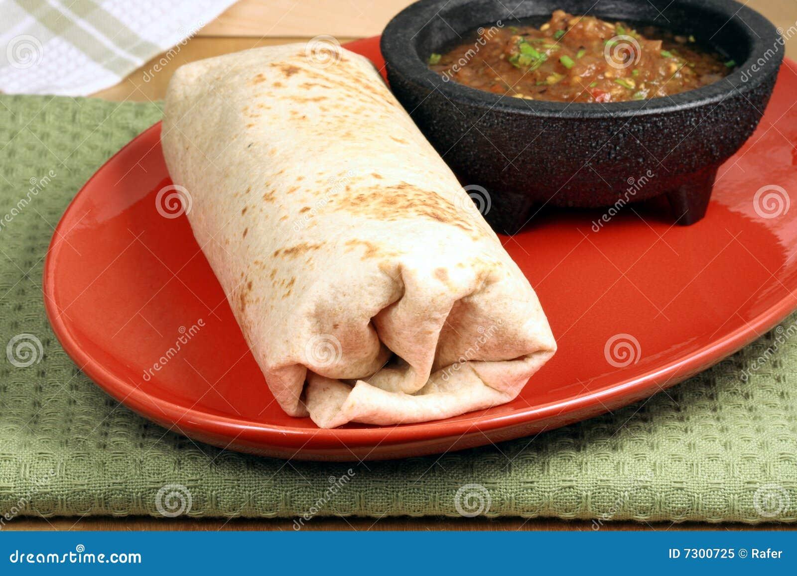 Varm mexikan för burrito