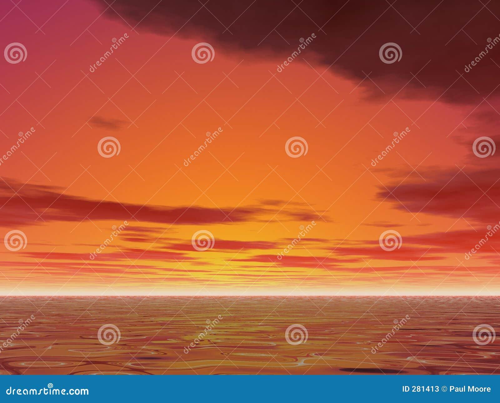 Varm solnedgång