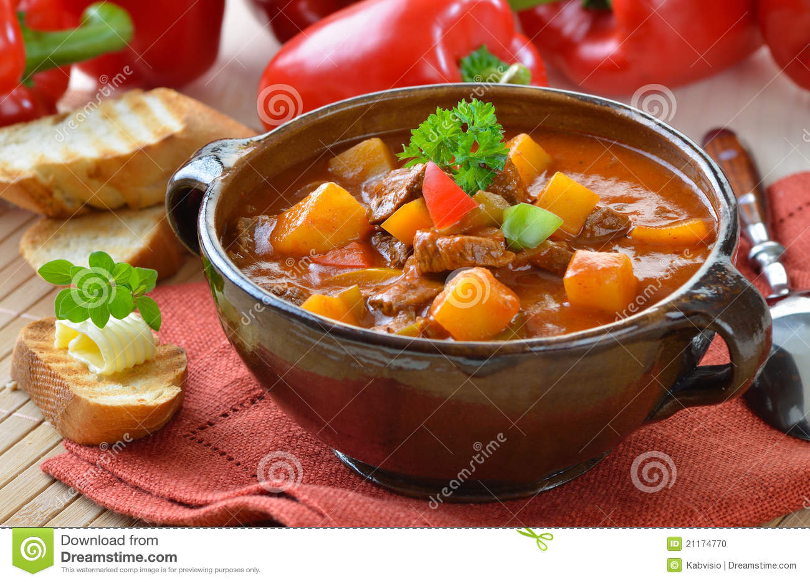 Varm soup för goulash