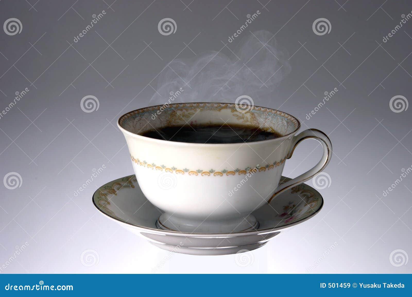 Varmt ånga för kaffekopp