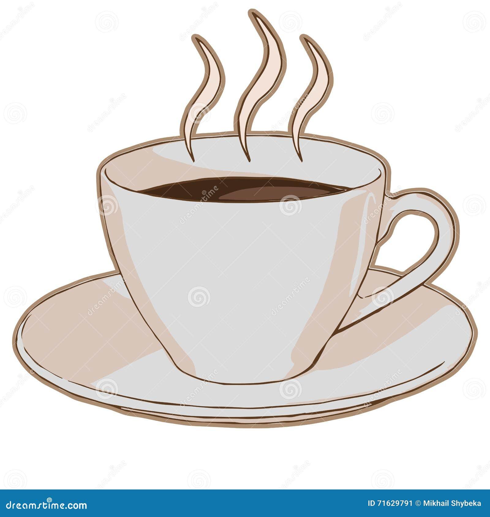 Varmt kaffe i en kopp
