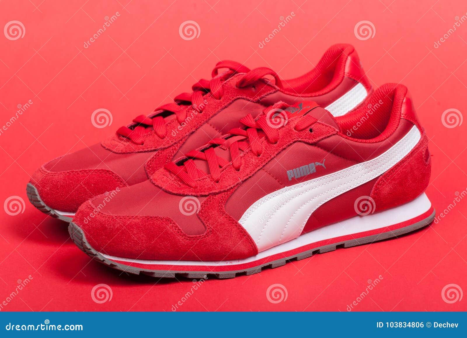 puma zapatos rojos