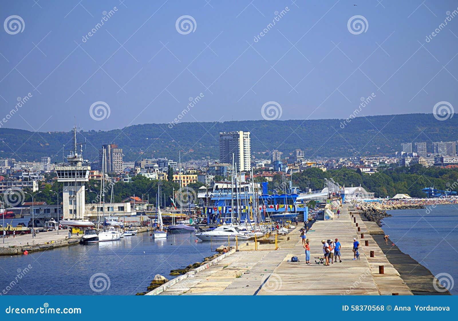 Varna City View Bulgaria Editorial Stock Photo Image