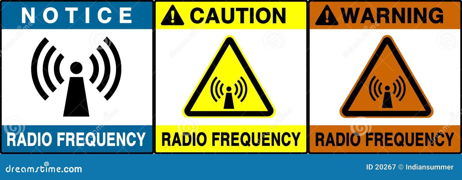 Varna för tecken för varning iii set
