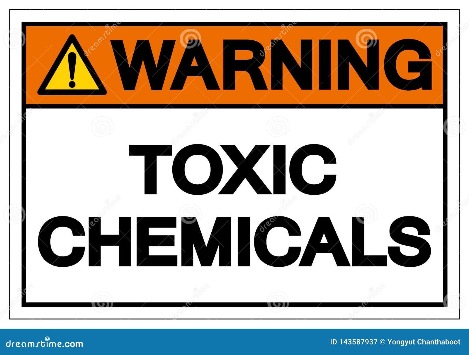 Varnande giftligt tecken för kemikaliesymbol, vektorillustration, isolat på den vita bakgrundsetiketten EPS10