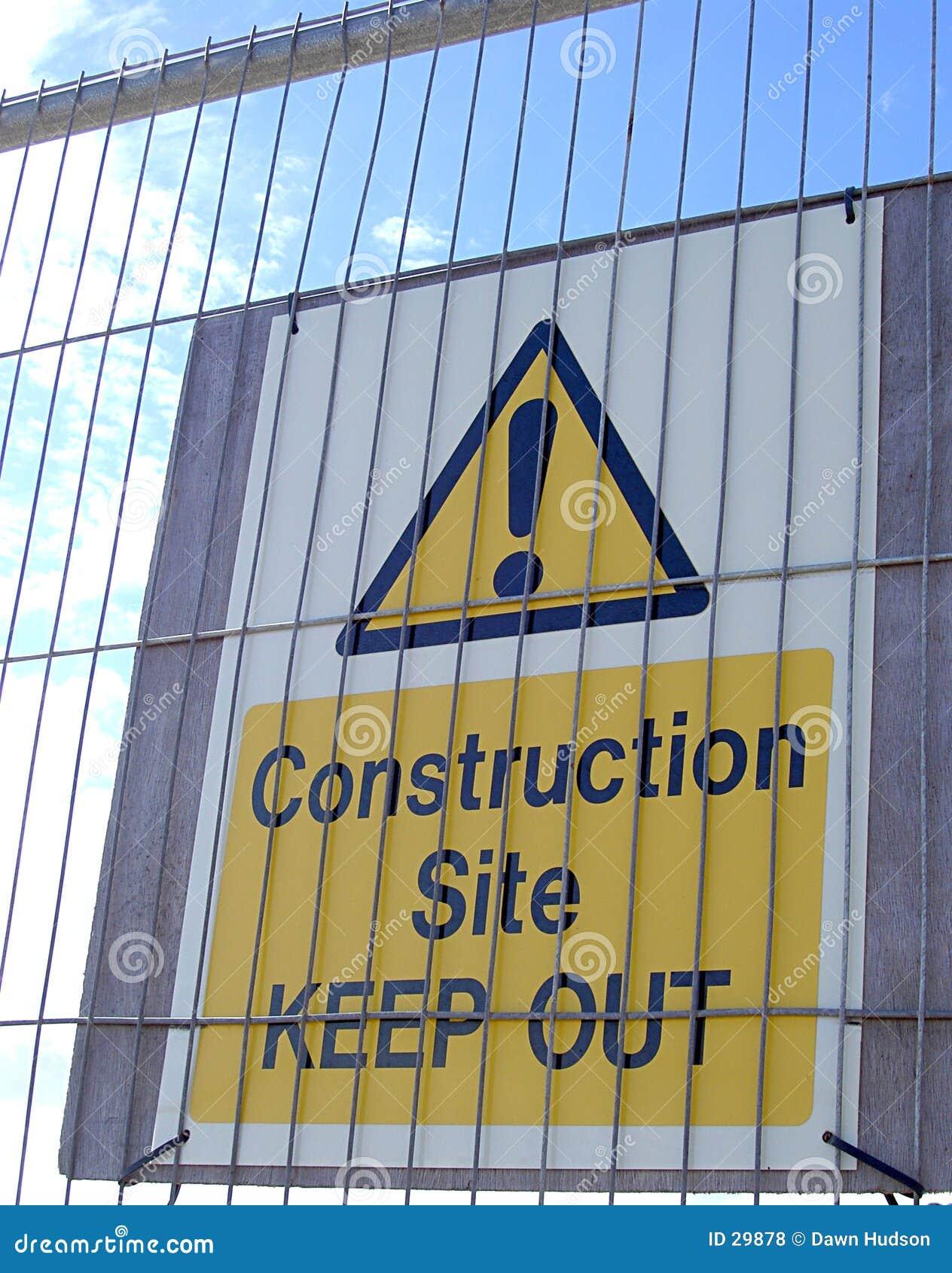 Varning för konstruktionsteckenlokal