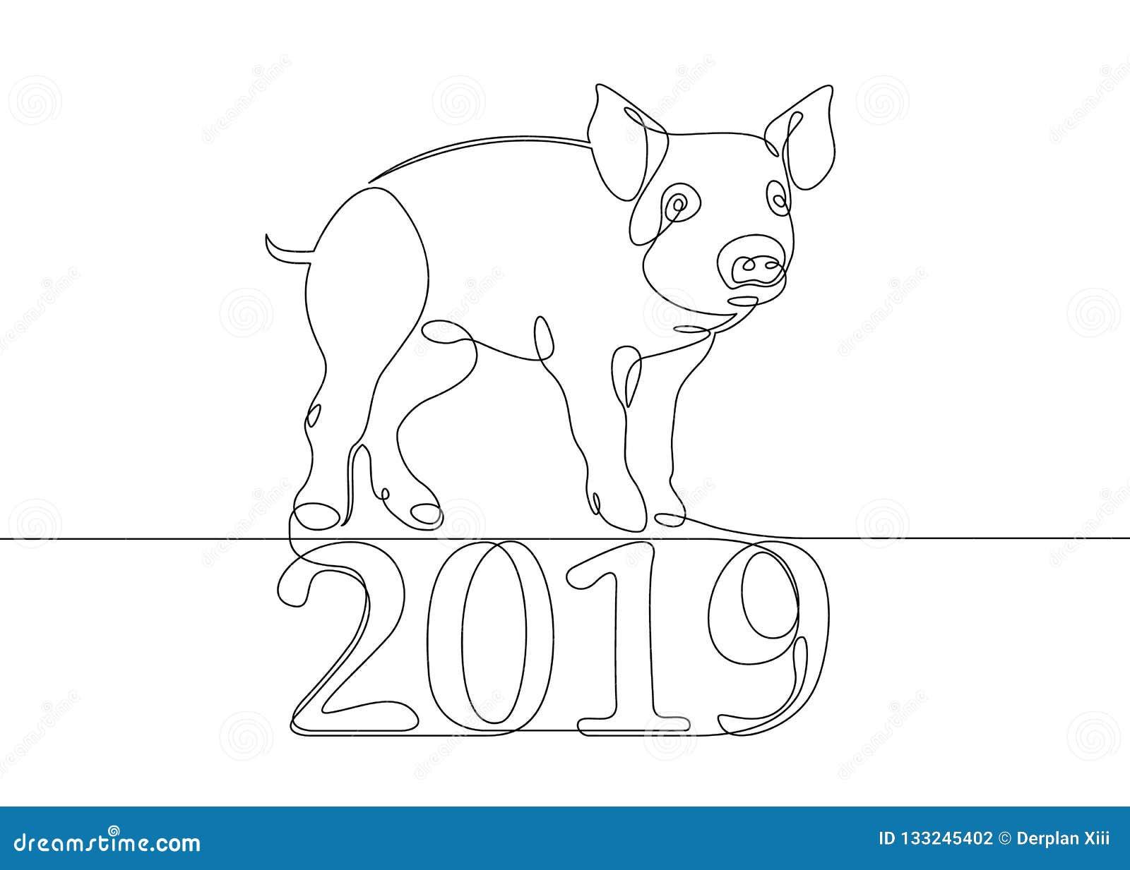 Varrão chinês do porco do calendário
