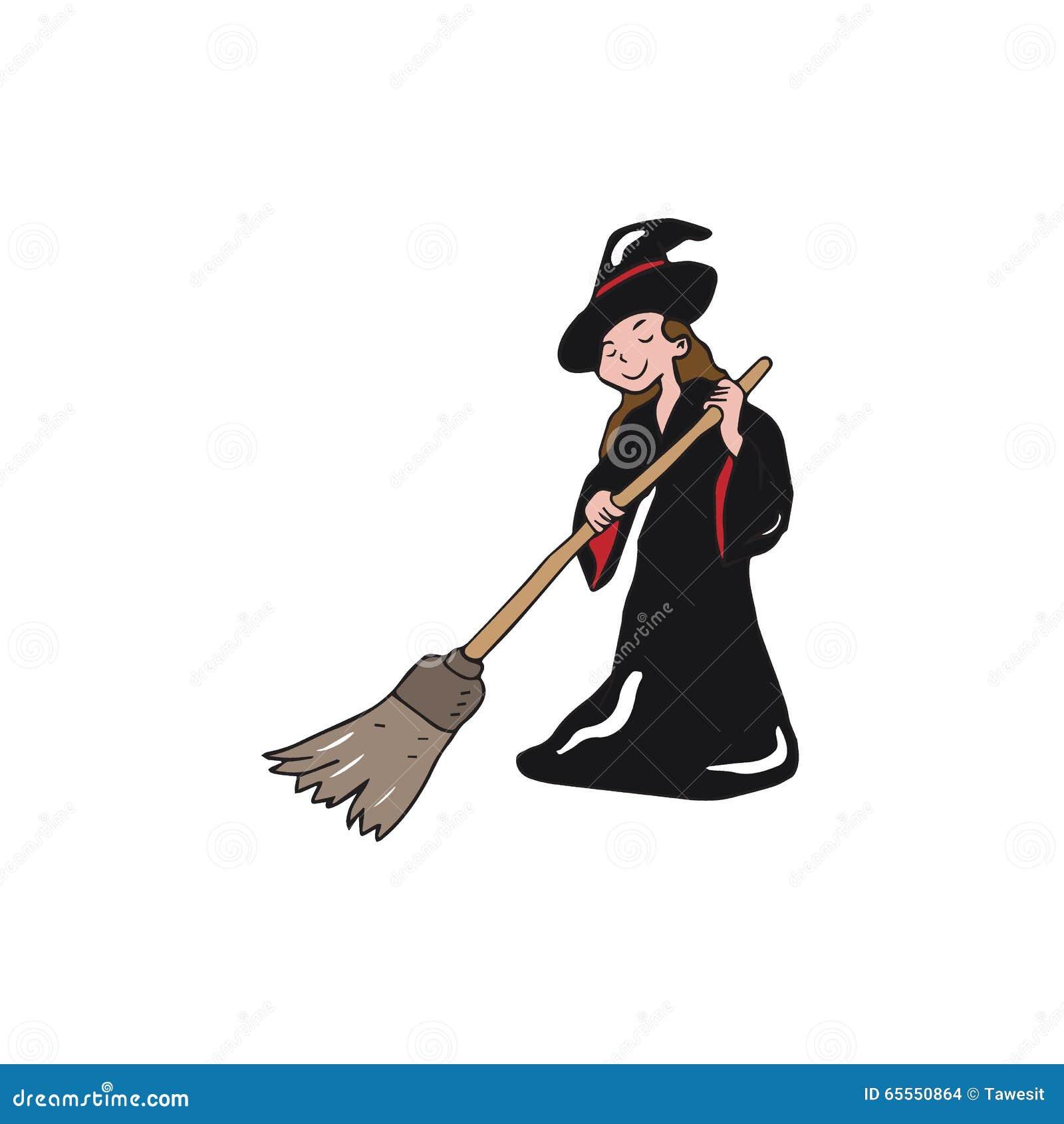 Varrer da bruxa de Dia das Bruxas