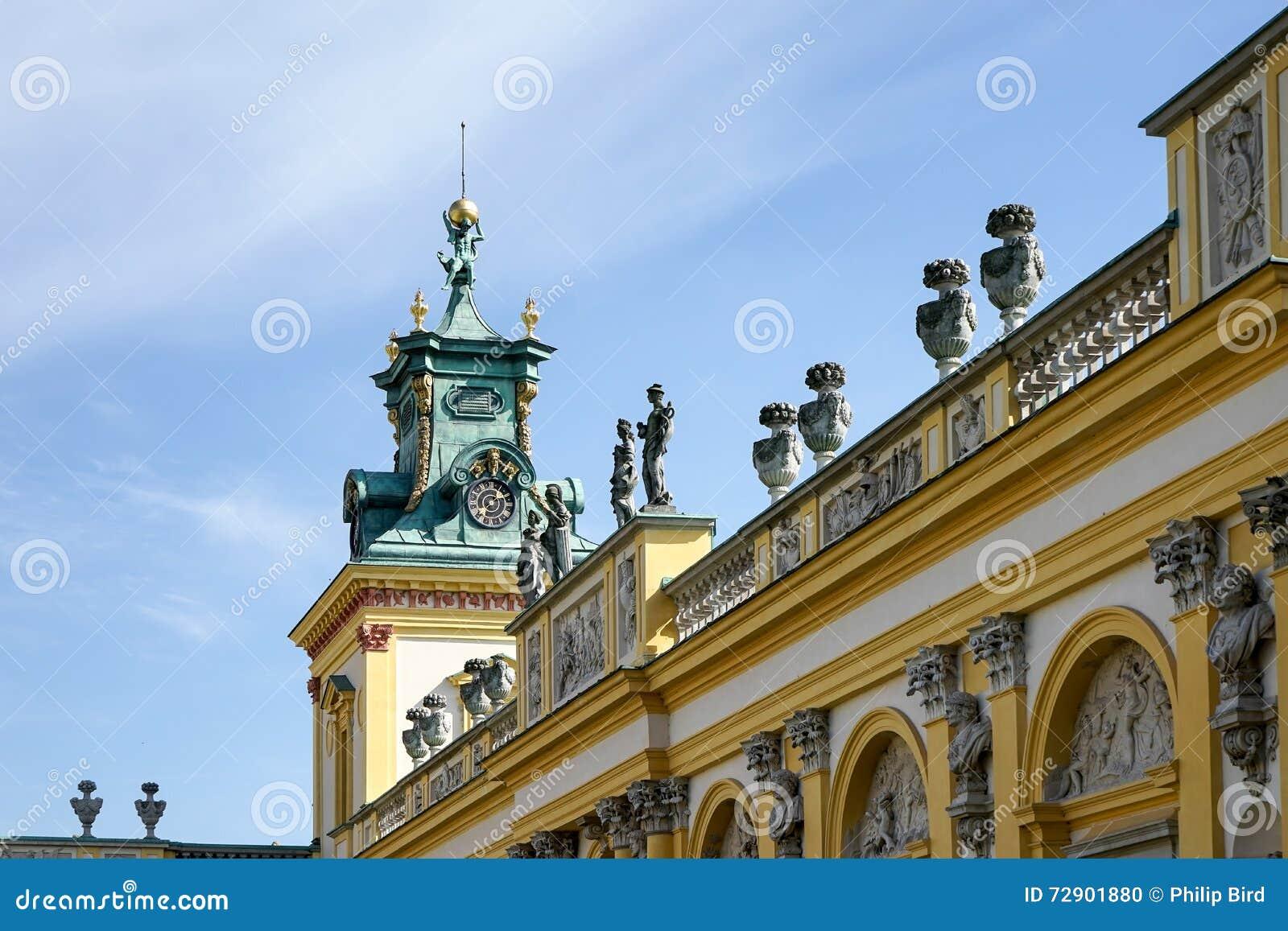 VARSAVIA, POLAND/EUROPE - 17 SETTEMBRE: Palazzo di Wilanow a Varsavia