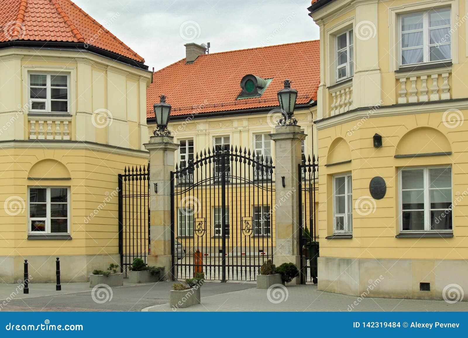 VARSOVIE, POLOGNE - 12 MAI 2012 : Vue du palais vide à Varsovie