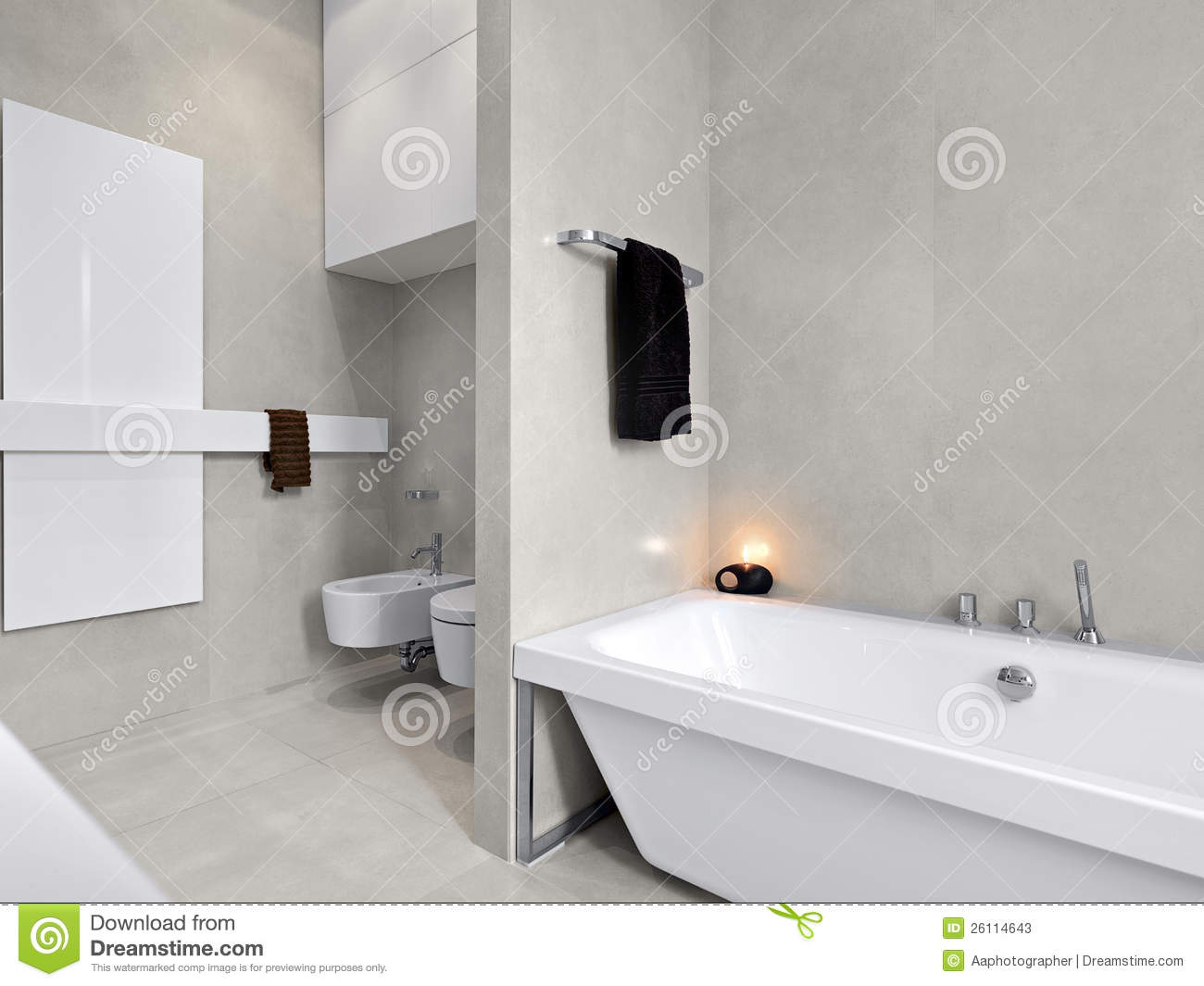 vasca da bagno bianca moderna per la stanza da bagno immagine stock immagine di bathtub. Black Bedroom Furniture Sets. Home Design Ideas
