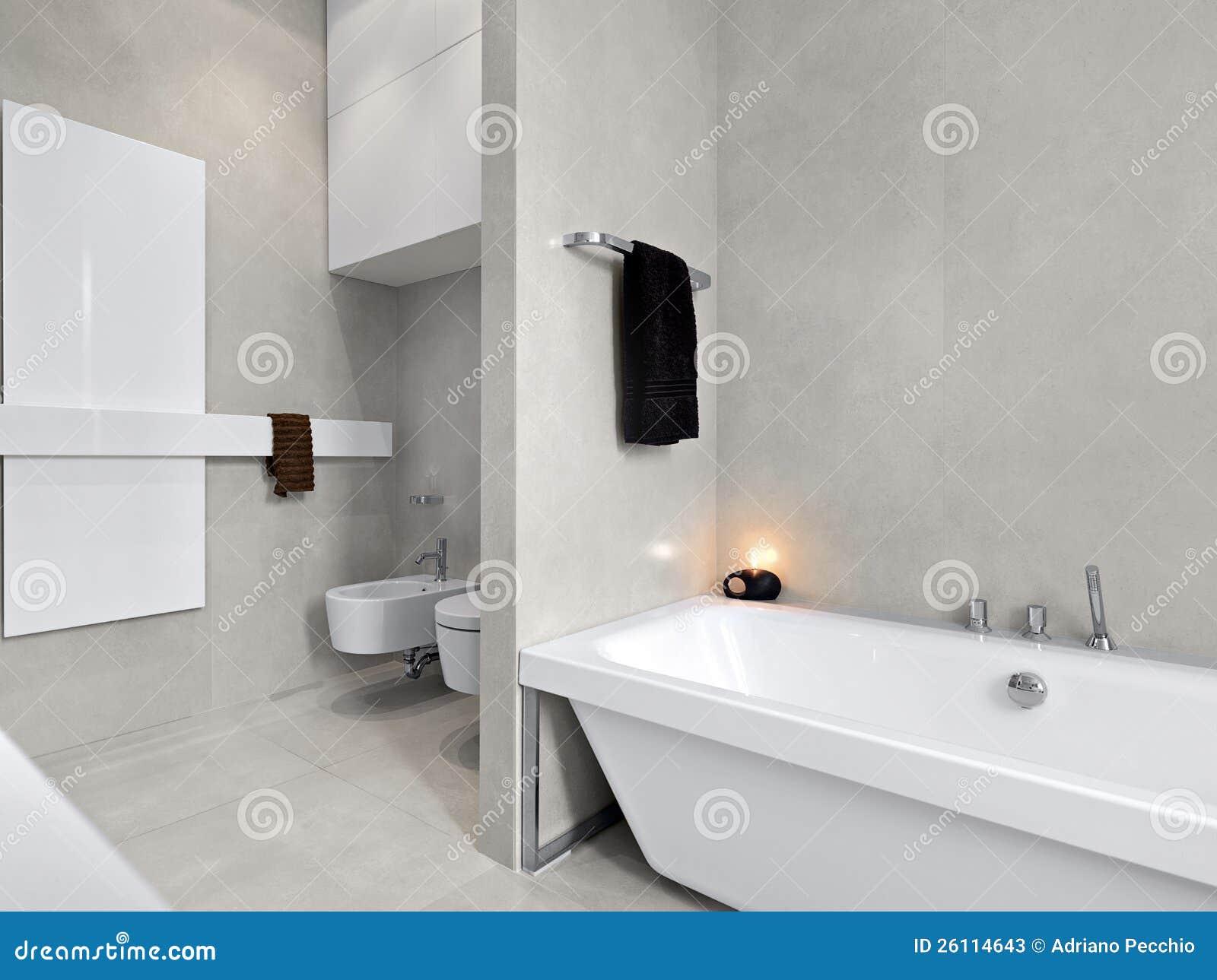 Vasca da bagno bianca moderna per la stanza da bagno immagine stock immagine di bathtub - Stucco per vasca da bagno ...