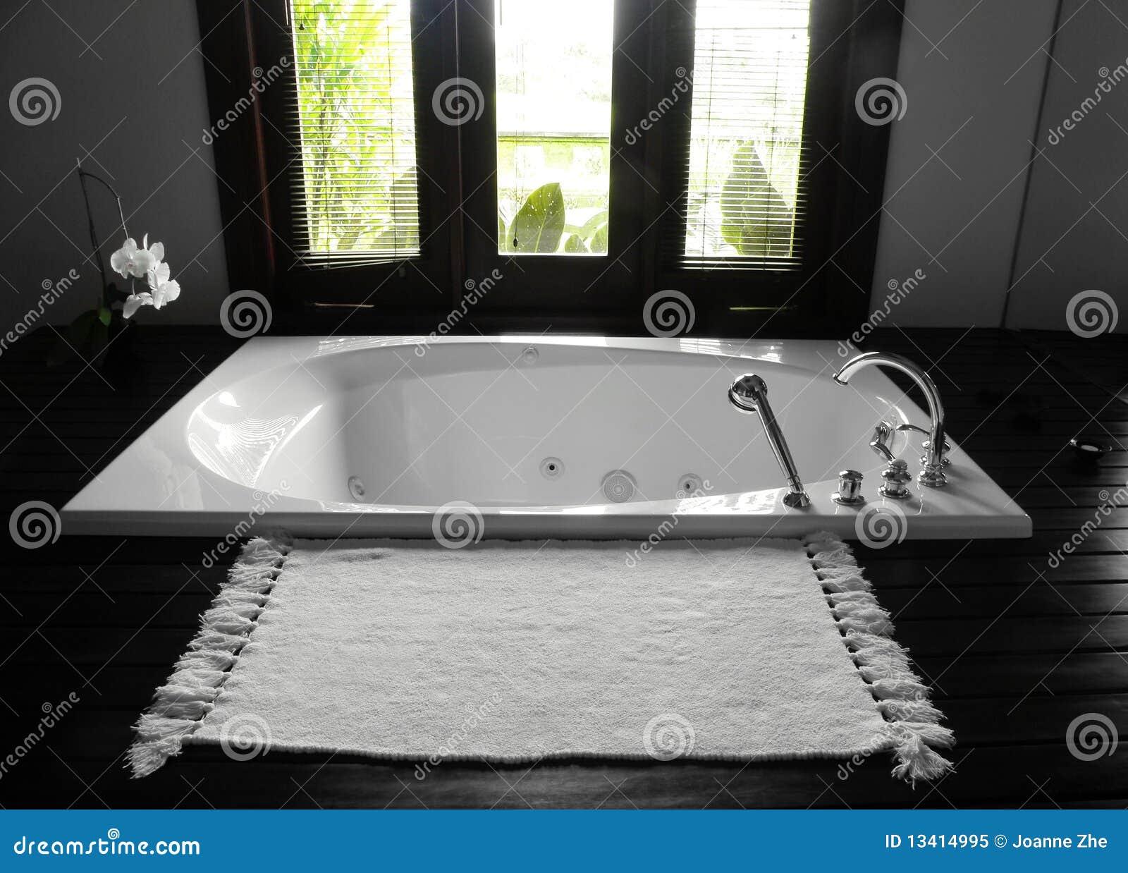 Vasca da bagno della stanza da bagno interiore lussuoso for Grande disposizione della stanza