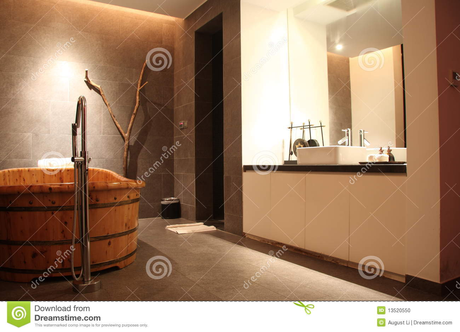 Vasca Da Bagno Legno : Vasca da bagno di legno rettangolare solida naturale indipendente