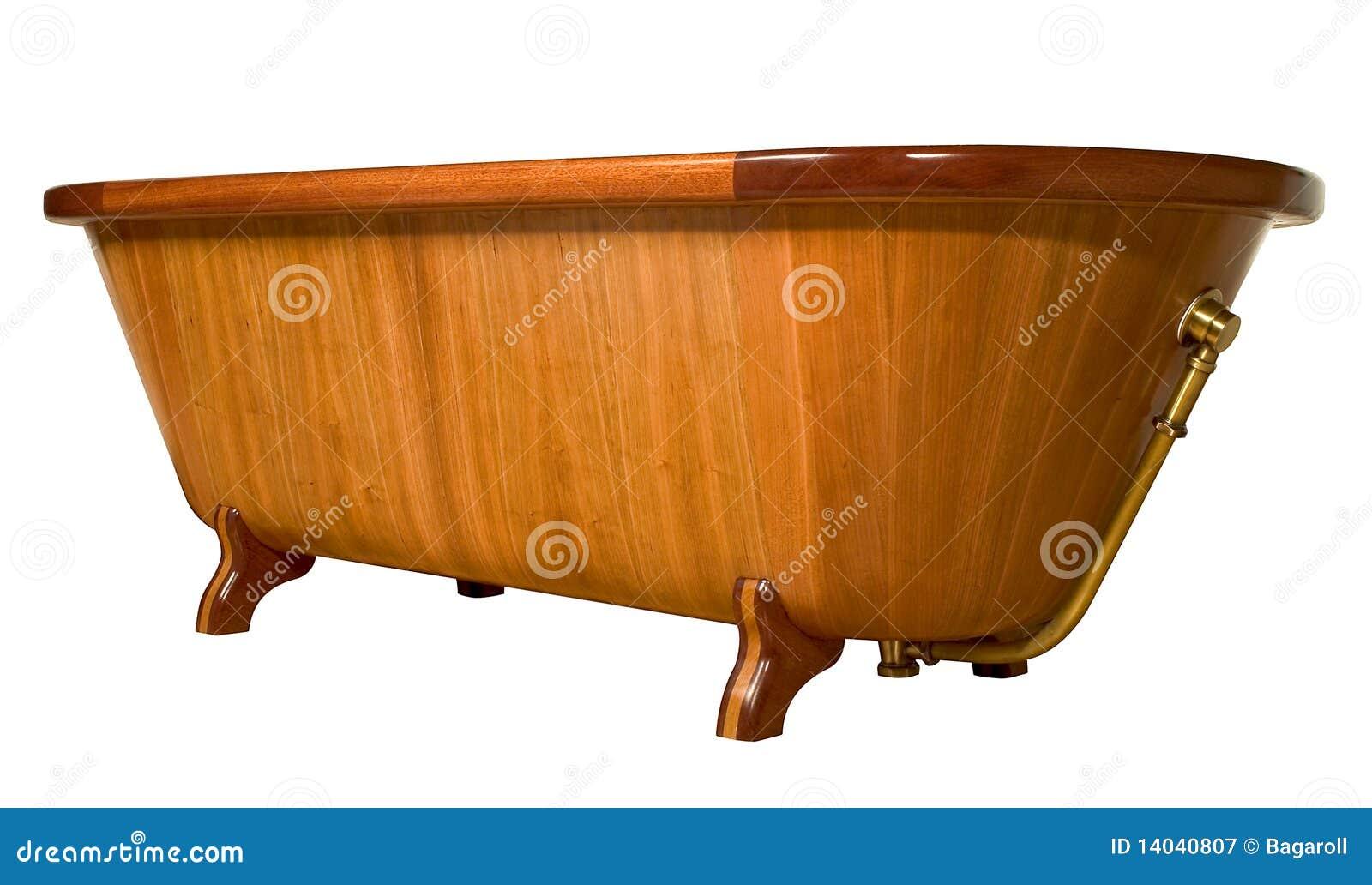 Vasca da bagno di legno unica fotografia stock libera da - Vasca bagno legno ...