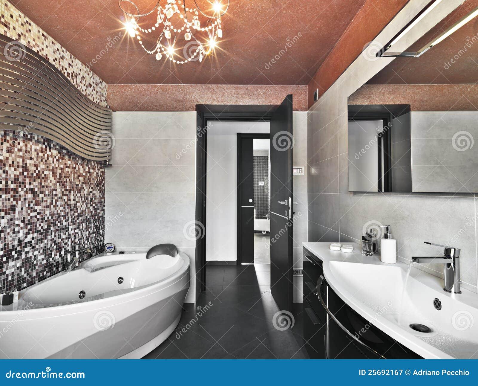 Vasca Da Bagno Con Lavandino : Vasca da bagno e lavandino moderni di spirito della stanza da