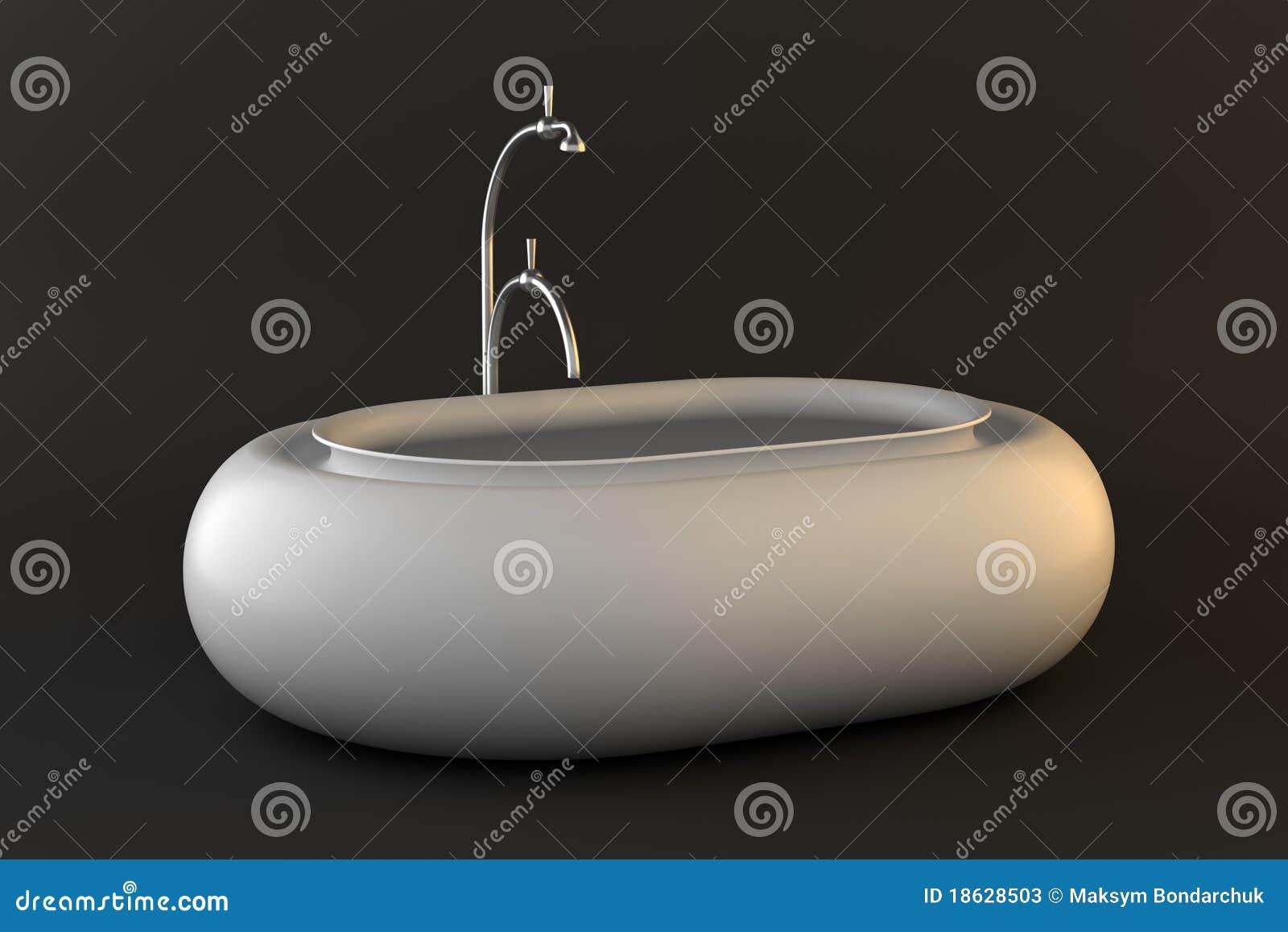 Vasca Da Bagno Bassa : Vasca da bagno moderna isolata su priorità bassa scura