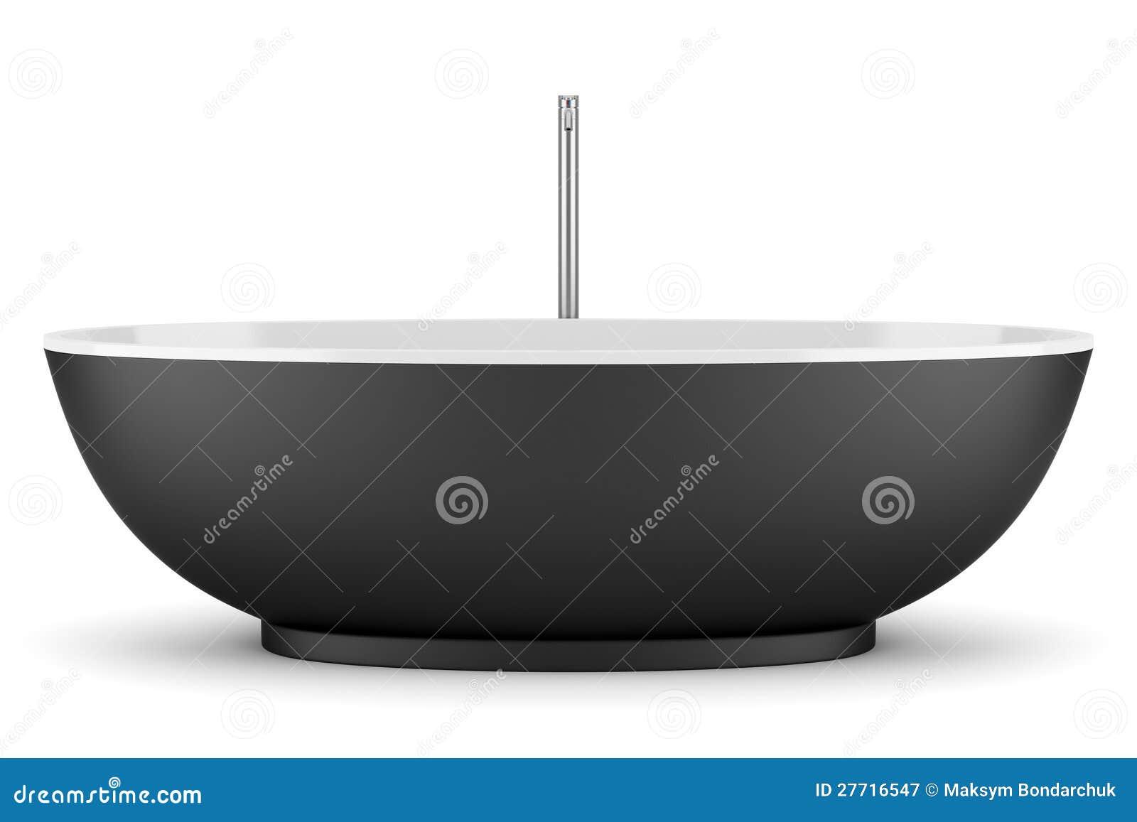 Vasca Da Bagno vasca da bagno nera : Vasca Da Bagno Nera Moderna Isolata Su Bianco Fotografia Stock ...