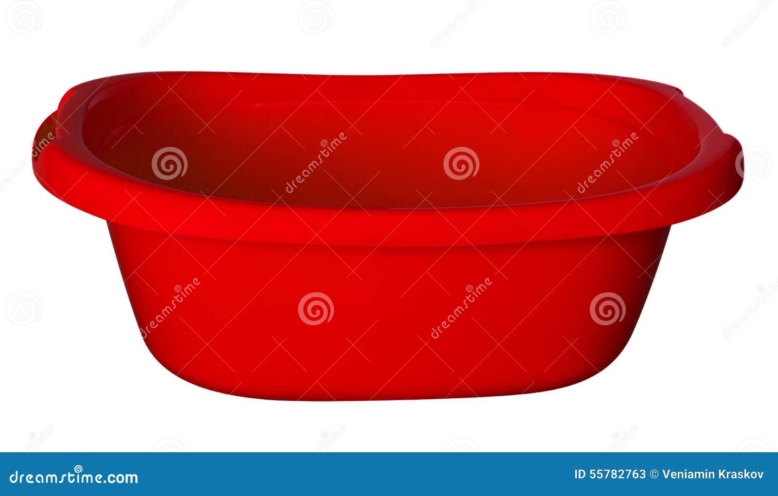 Vasca Da Bagno In Plastica : Vasca da bagno rosso immagine stock. immagine di vaschetta 55782763