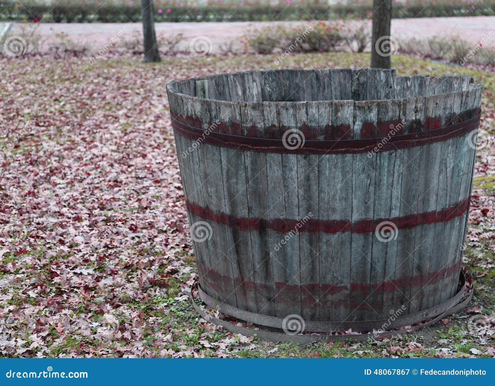 vasca di legno per selezionare l 39 uva durante la